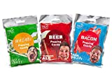 Gourmet Popping Candy! Set of 3 Great Flavors! Wasabi Beer Bacon!