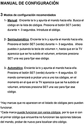 Mando Universal Televisión / TV: Amazon.es: Electrónica
