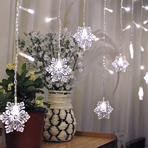 Led Twinkle Icicle Snowflake Christmas Lights in US - 2