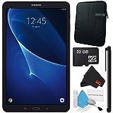 Samsung 10.1 Galaxy Tab A T580 16GB Tablet (Wi-Fi Only, Black) SM-T580NZKAXAR + MicroFiber Cloth + Universal Stylus for Tablets + Tablet Neoprene Sleeve 10.1 Case (Black) Bundle