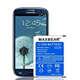 Galaxy S3 Battery, MAXBEAR 2500mAh Extended Slim Replacement Battery for Samsung Galaxy S3