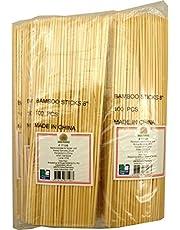 JADE TEMPLE Bambuspett, 20 cm lång, för engångsanvändning, 100 stycken per fördelaktig förpackning, 1 x 100 bambuspett