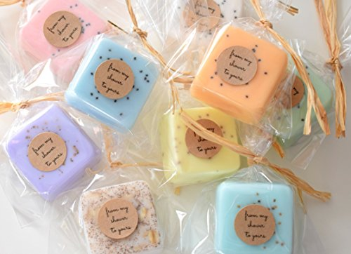 Wedding Favors: 100 Mini Soap Favors for Wedding Favors, Bridal Shower Favors, or Baby Shower Favors by kitschandfancy