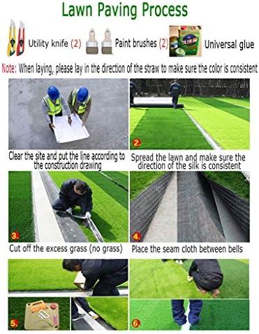 PING- 人工芝の芝生、 高密度フェイクスプリンググラス 厚さ40mm 校庭の地面舗装に適用 4サイズのオプション (Color : 2×3m)