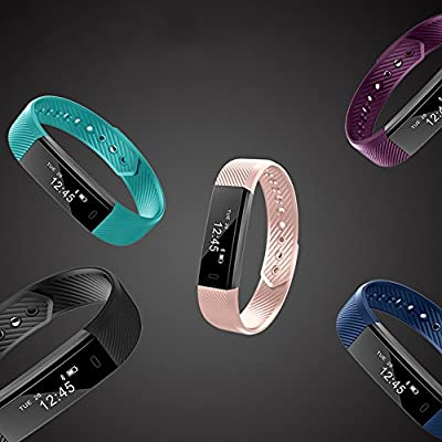 ID115 Fitness Activity Tracker, Mmrm Smart Sport Band Pedometer, Calories Counter, Distance, Sleep Monitor Wearable Bluetooth Wristband