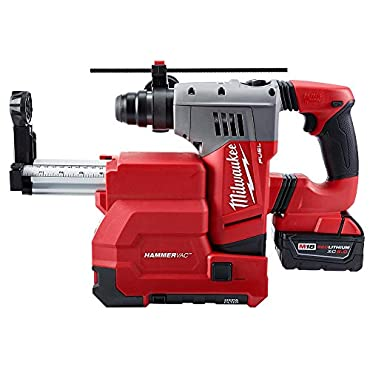 Milwaukee 2715-22DE M18 Fuel 1-1/8 SDS Plus Rotary Hammer with Dust Extractor Kit