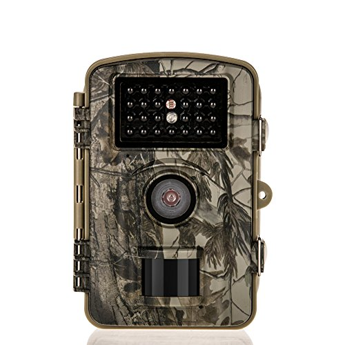 Distianert 8MP 720P Infrared Game&Trail Camera 0.6 Trigger Time Low Glow Night Vision 65ft Waterproof IP66 with 34pcs 850nm IR LEDs