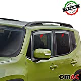 Omac GmbH Jeep Renegade Windabweiser Regenabweiser 4 tlg Satz Vorne & Hinten ab 2014