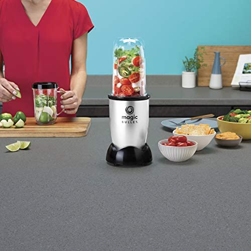 Magic Bullet Blender Small Silver 11 Piece Set