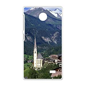 Mountains Town White Phone Case for Nokia Lumia X wangjiang maoyi