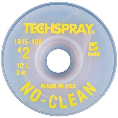 """Techspray 1815-10F No-Clean Desoldering Braid, .055"""", 10ft."""