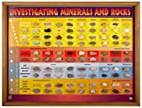 American Educational 93 Specimens Investigating Minerals and Rocks Chart, 24'' Length x 18'' Height