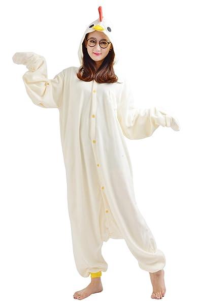 Cosplay Animales Pijamas Mujer Invierno Novedad Navidad Traje Disfraz Adulto Búho Pollitos Blancos