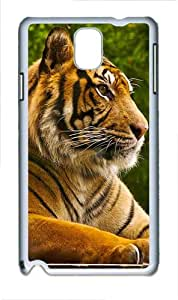 Ferocious Animal Tiger Polycarbonate Hard Case Cover for Samsung Galaxy Note III/ Note 3 / N9000 White