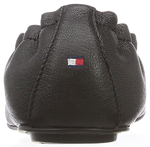 Black Ballerine Leather Hilfiger Donna Nero Flexible 990 Tommy q7xB6gwfU