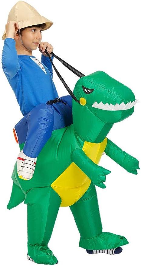 CBA BING Traje de Dinosaurio Inflable para niños, Vestido Ride Me ...