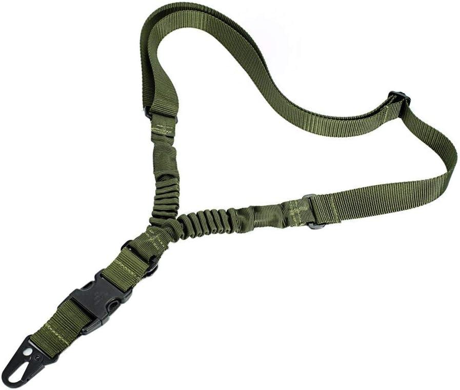 OLEADER 1 Punto Rifle Sling Multiusos Pistola Ajustable Correa de Hombro Cuerda con cordón elástico para la Caza Camping Deportes al Aire Libre