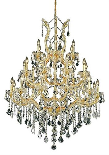 Karla Gold Traditional 28-Light Grand Chandelier Swarovski Spectra crystal in Crystal (Clear)-2380D38G-SA--38