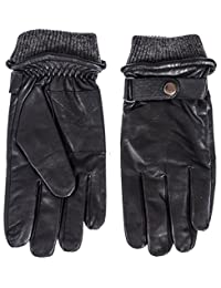 Klondike Men's Leather Glove with Wool Blend Knit Cuff