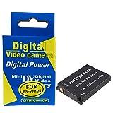 RUISI BN-VH105 Battery Pack FOR JVC BN-VH105 and JVC GC-XA1, GC-XA2 ADIXXION Action Camera