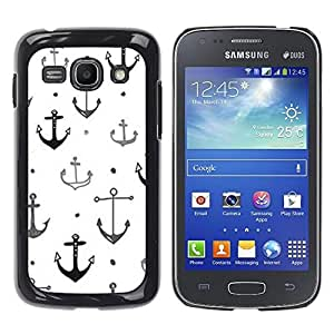 iKiki Tech / Estuche rígido - Boat Ship Captain Anchor White Clean - Samsung Galaxy Ace 3 GT-S7270 GT-S7275 GT-S7272
