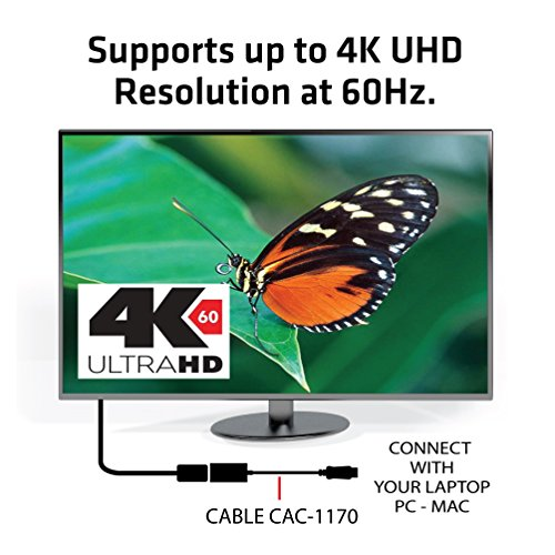 Club 3D, CAC-1170, Active Mini DisplayPort to HDMI 2.0 Adapter (Supports displays up to 4k / UHD / 3840x2160@60Hz) VESA Certified, 0.15m/0.49ft