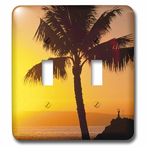3dRose LLC lsp_89714_2 Sunset Kaanapali Maui Hawaii Us12 Dpb1378 Douglas Peebles Double Toggle Switch by 3dRose