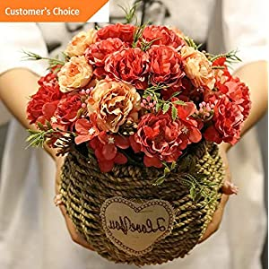 Hebel 1 Bouquet 10 Heads Artificial Peony Silk Flower Home Wedding Party Decor Cal | Model ARTFCL - 238 | 60