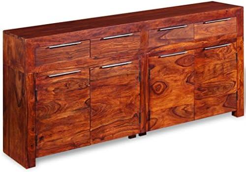 Credenza Moderna In Legno Massello : Weilandeal credenza in legno massello di sheesham  cm