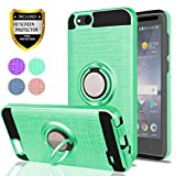 ZTE Blade Vantage Case,ZTE Tempo X,ZTE Avid 4 Phone Cases with HD Phone Screen Protector,YmhxcY 360 Degree Rotating Ring & Bracket Dual Layer Resistant Back Cover for ZTE Tempo X N9137-ZH Mint