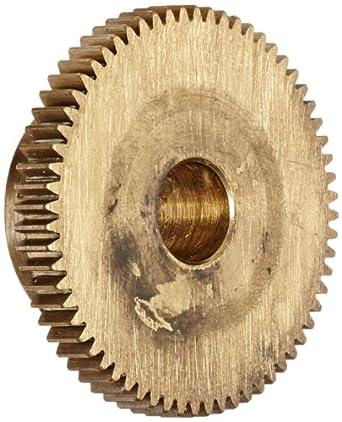 """Brass Pinion Gear 64P 20 Deg Pressure Angle 64Teeth x .250"""" Bore x 1.00"""" Pitch Dia"""