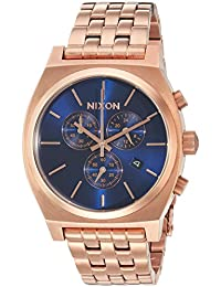 Nixon Men's 'Time Teller Chrono' Quartz Stainless Steel Casual Watch, Color:Rose Gold-Toned (Model: A9722398-00)