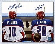 Pavel & Valeri Bure Team Russia Dual Signed Olympic Hockey 8x10 P