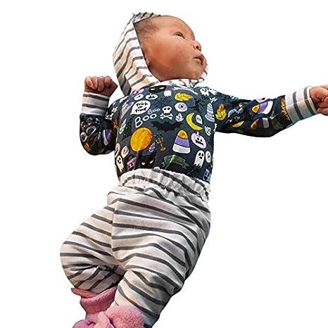 POLP Niño-Halloween Bebe Invierno Disfraz Calabaza Disfraces de Halloween para Niño pequeño de los bebés de Historieta de Muchacha con Capucha Mameluco a ...