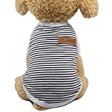 Loweryeah Spring and Summer SOFE Cotton Dog Vest False Straps Pet Clothes Cute Puppy Outfits