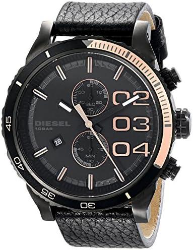 Diesel Men s DZ4327 Double Down Series Analog Display Analog Quartz Black Watch
