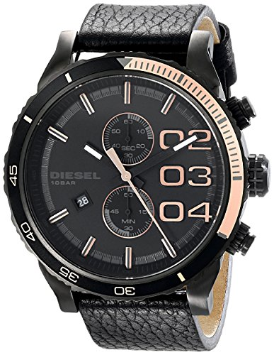 - Diesel Men's DZ4327 Double Down Series Analog Display Analog Quartz Black Watch