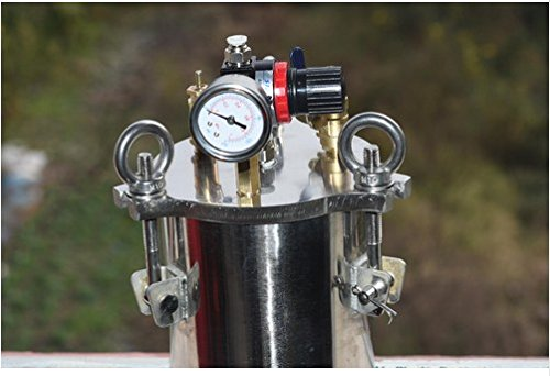 GOWE semi - automatic single - liquid dispenser stainless steel pressure barrel equipment note dispensing valve plug color:5L