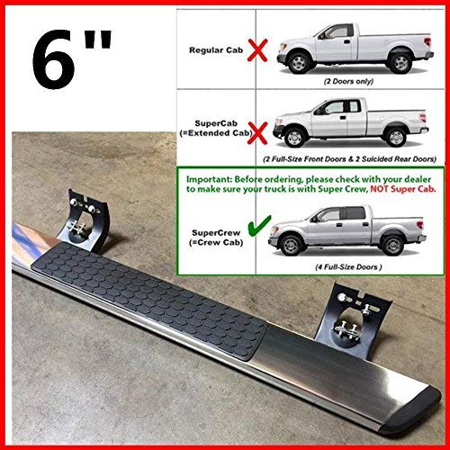 A Pair of Running Boards | Side Steps | Nerf Bars for 15-18 Dodge Ram 2500 3500 4500 Crew Cab (4 Full Size Door) – 6