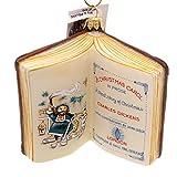 Vaillancourt CHARLES DICKENS BOOK ORNAMENT Glass Christmas Carol London Or15707