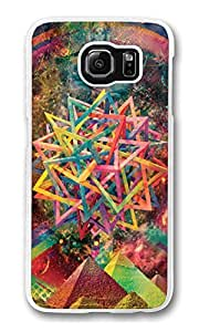 S6 Case, Galaxy S6 Case, Scratch Resistant Hard Bumper Case for Samsung Galaxy S6 Abstract Psychedelic Art white Hard Case for Samsung Galaxy S6