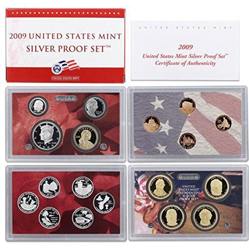 2009 S US Mint Silver Proof Set (Silver Vintage Coin Set)