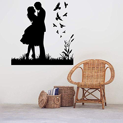Retuay Quote Wall Decal Sticker Nursery Vinyl Saying Lettering Wall Art Inspirational Wall Decor French Ballade Romantique Avec Des Oiseaux Pour La Chambre Romantic Ballad with Birds for Bedroom