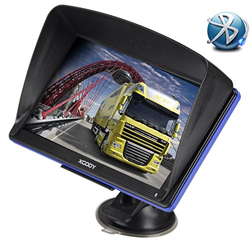 Xgody Portable Car Truck GPS GPS 886 with Sun Shade 7''