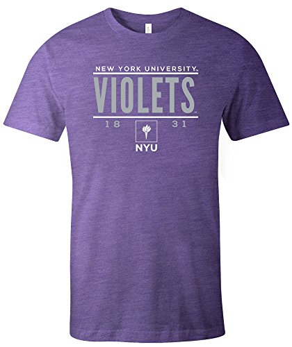 Ncaa New York Violets Tradition Short Sleeve Tri Blend T Shirt  Small Purple
