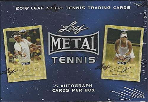 (2016 Leaf Metal Tennis Trading Cards Hobby Box (5 autograph Cards))