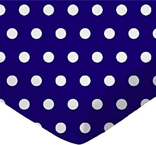 product image for SheetWorld Fitted Cradle Sheet - Polka Dots Royal - Made In USA