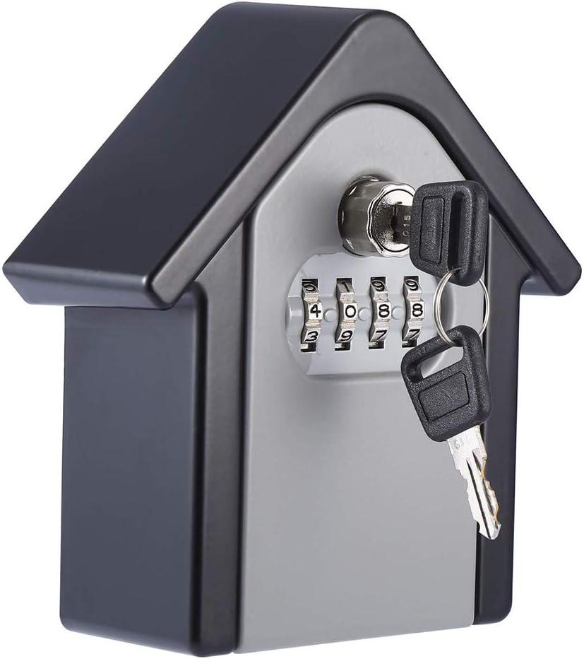 Loboo Idea Key Coffre-fort Mot De Passe Serrure Cl/é Ext/érieure S/écurit/é Cl/és Bo/îte De Rangement Creative Maison Forme S/écurit/é Mur Mont/é Combinaison Bo/îte De Verrouillage