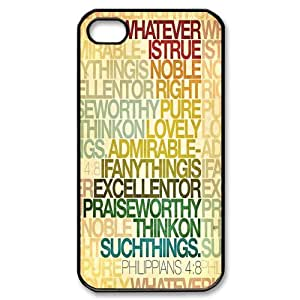 Custombox Bible Verse Iphone 4/4s Case Plastic Hard Phone Case for Iphone 4/4s-iPhone 4-DF02020