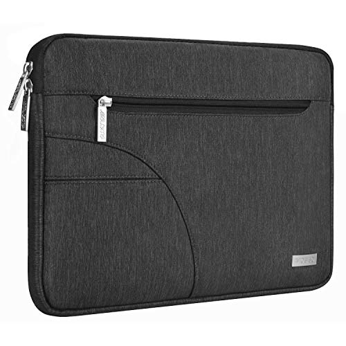 MOSISO Laptop Sleeve Compatible 2018 New MacBook Air 13 inch with Retina Display A1932, 13 inch New MacBook Pro A1989 A1706 A1708, Notebook, Polyester Tablet Bag with Accessory Pocket, Black
